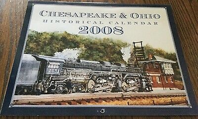 2008 Chesapeake & Ohio Historical Calendar - Suitable For Framing