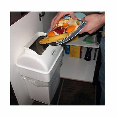 Mr Eco Kitchen Compost Collector Hide Waste and Eliminate Odor Safe For a Clean