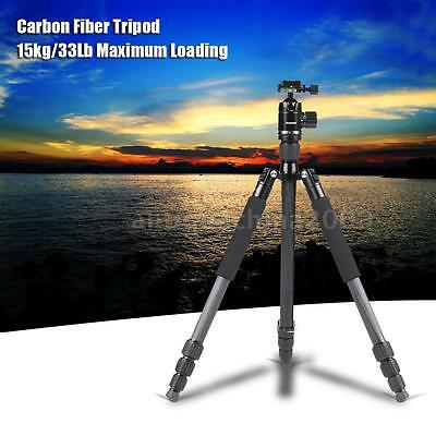 "Professional 67""Carbon Fiber Tripod Monopod Stand with Ball Head for DSLR Camera"