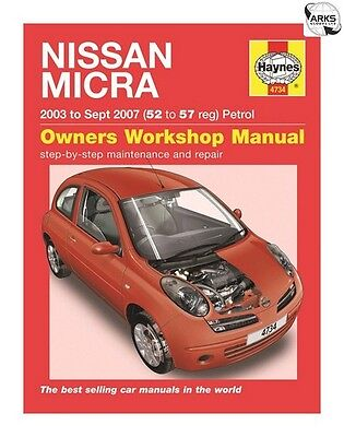 4734 haynes nissan micra petrol 2003 oct 2010 52 to 60. Black Bedroom Furniture Sets. Home Design Ideas