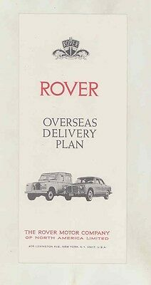 1965 Land Rover 88 109 Rover 3 Litre Mark II Options Prices Brochure ww1581