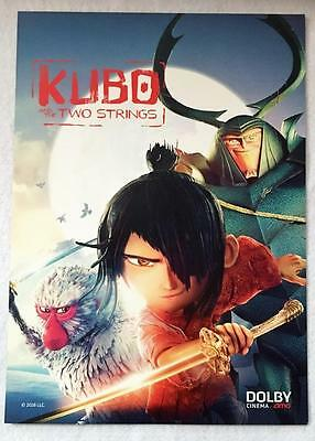 KUBO AND THE TWO STRINGS 11.5x16 D/S Original Promo Movie Poster 2016 AMC Dolby