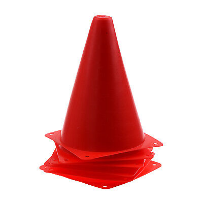 6 PCS Multi-function Agility Cone for Football Practice Drill Marking - Red DW