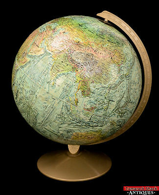 """12"""" Replogle World Ocean Globe Series Relief Desk Model with Classic Stand L1Z"""