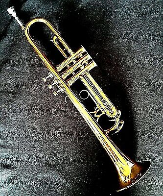 King Liberty Trumpet 1950s Double Tuning Slide Gold Lacquer Mouthpiece Case