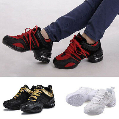 Women Sports Sneakers Lace Up Trainers Jazz Modern Plaza Dance Shoes Soft Sole
