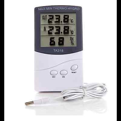 Digital LCD Indoor/ Outdoor Thermometer Hygrometer Temperature Humidity Meter HK