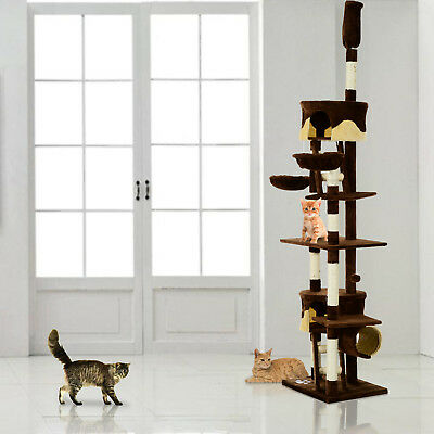PawHut Cat Tree Post Activity Center Scratching Scratcher Bed Toy Climbing Tower
