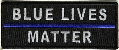 BLUE LIVES MATTER - IRON or SEW ON PATCH
