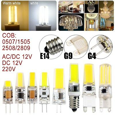 Dimmable G4 G9 E14 COB SMD LED Silicone Crystal Light Lamp Bulb 3W 5W 6W 9W 12W