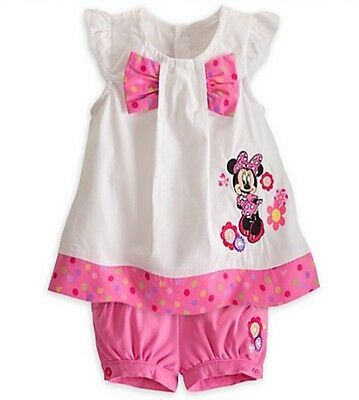New Girl Minnie Mouse Dress Top + Pants Set Cotton size 1-7 years Gift