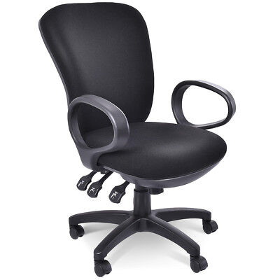 Mordern Ergonomic Mid-Back Executive Computer Desk Task Office Chair Black New