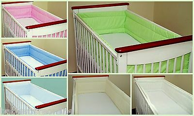 All round/ all around Nursery bumper 420cm long/ Padded/ to  fit Baby cot bed