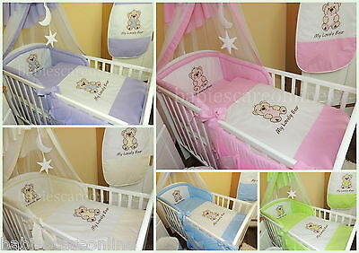 Lovely 6 pcs BABY BEDDING SET/BUMPER/PILLOW CASE/DUVET Cover to fit cot/cot bed