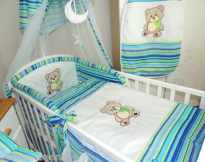STUNNING 3 pcs BABY BEDDING SET/BUMPER/ pillowcase,duvet cov  fit cot or cot bed