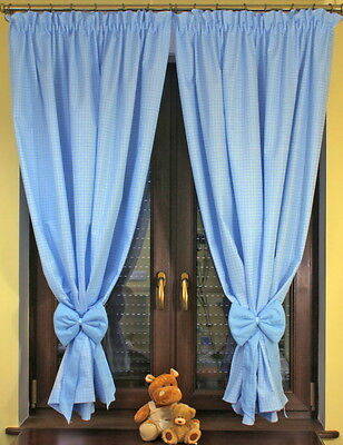 LUXURY DECORATIVE WINDOW CURTAINS FOR BABY ROOM  in 7 colours
