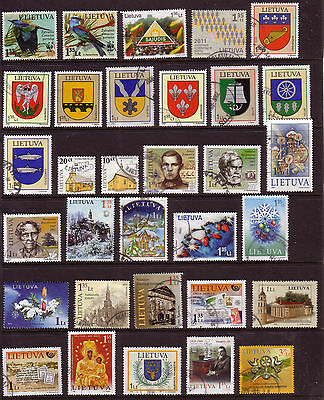 Lithuania 443used stamps 1999 / 2011