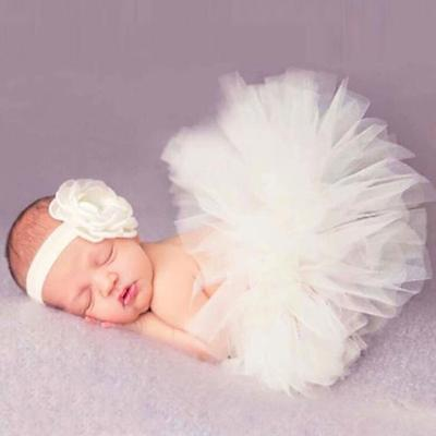 Newborn Toddler Baby Girl Tutu Skirt & Headband Photo Prop Costume Outfit - 6A