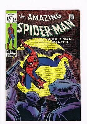 Amazing Spider-Man # 70  Spider-Man Wanted !  grade 8.5 scarce book !