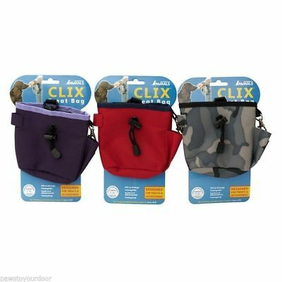 COA Clix Dog Treat Snack Training Bag Pouch With Belt Attachment And Clip