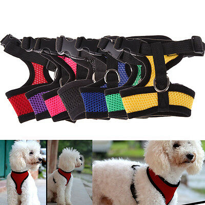 1 Nylon Pet Puppy Soft Mesh Dog Harness Strap Vest Collar For Small Medium-sized