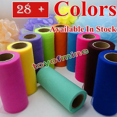 "6 ""x 25 YD Tulle Rouleau Spool Tutu Wedding Party Gift Wrap Craft Décorations"