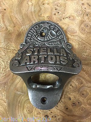 Cast Iron Bottle Opener/Wall Mounted/Heavy/Vintage/Rustic/Antiqued/STELLA ARTOIS