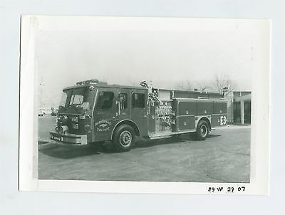 1970's Emergency One Fire Truck Original Small Photo Naperville ft1361