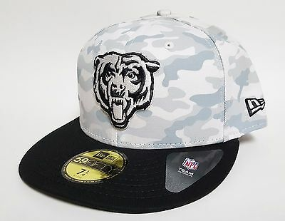 8b296bc1ed985 NEW ERA 59FIFTY CHICAGO BEARS COVER 2 TONE Hat Grey ( 36) ON FIELD ...