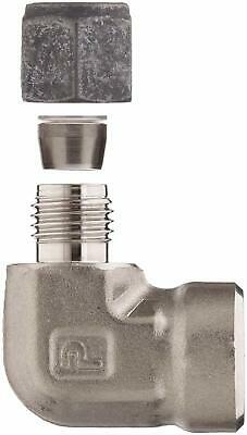 """PARKER Stainless Steel Compression Tube Fitting 90 Degree Elbow 1/2"""" x 1/2"""""""