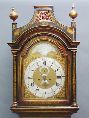 18th Century Chinoiserie 8 Day Longcase Clock, Aaron Brown c.1760
