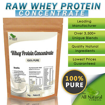 1Kg - Raw - Whey Concentrate- 100% Pure