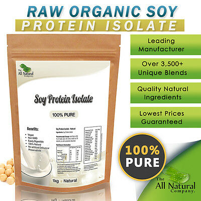 1Kg - Raw - Organic Soy Protein- 100% Pure