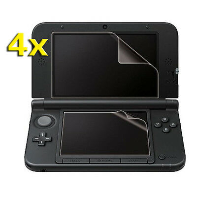 4x Top Bottom Screen Protector LCD Film Guard Cover for Nintendo 3DS LL XL DW