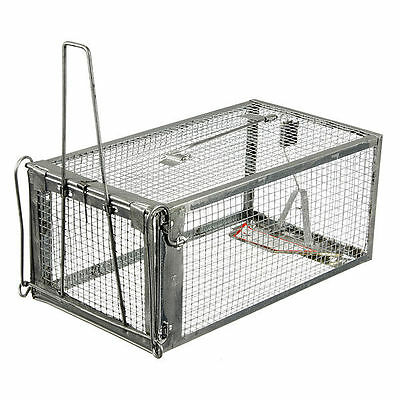 Rodent Animal Mouse Mice Rat Humane Live Trap Control Catch Bait Hamster Cage DW