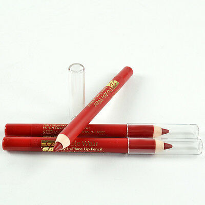 Estee Lauder Double Wear Stay-in-Place Lip Pencil # 07 Red Set Of 3 Travel Size