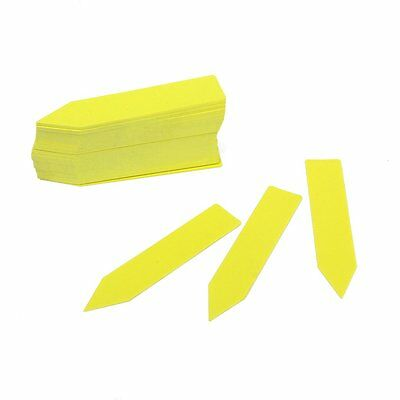 100pcs Long Yellow Stick in Garden Plant Seed Labels Nursery Plastic Stake Tags
