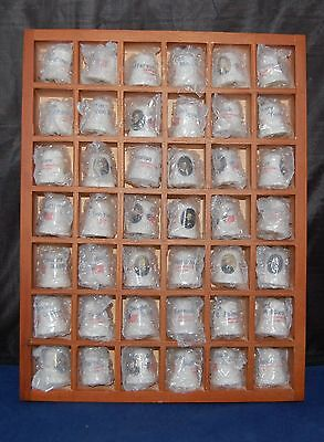U.s. Presidential Thimble Set Wooden Case Presidents 1-43 History Art Piece