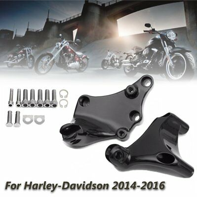 Pair Rear Passenger Foot Pegs Pedal Mount For Harley Sportster XL 883 1200 14-16