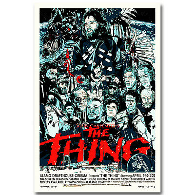 The Thing Horror Classic Movie Silk Poster 12x18 24x36 inch 003