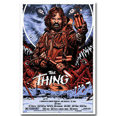 The Thing Horror Classic Movie Silk Poster 12x18 20x30 inch