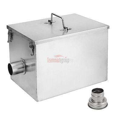 New Kitchen 8LB 5GPM Gallons Per Minute Stainless Steel Interceptor Grease Trap