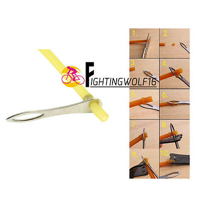 Stainless Steel Slingshot Rubber Band Tied Assistant Shooting Catapult Helper