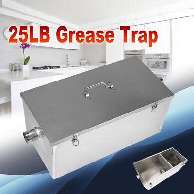 25LB 13GPM Gallon Per Minute Grease Trap Stainless Steel Intercept Kitchen Tool