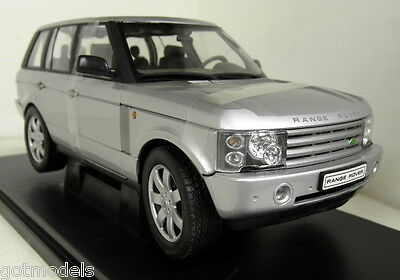 Nex 1/18 Scale 12536W Land Rover Range Rover in silver Diecast model car