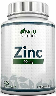 Zinc Gluconate 50mg 365 Tablets UK Made 100% Money Back Guarantee