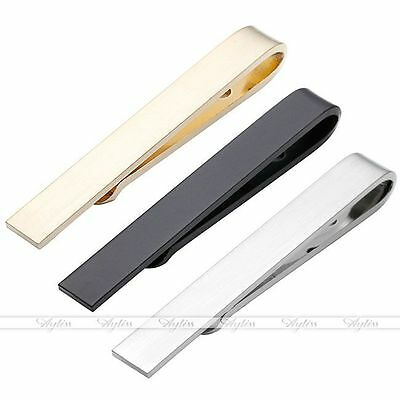 Men Stainless Steel Skinny Mirror Thin Necktie Tie Bar Clip Clasp Clamp Pin Gift