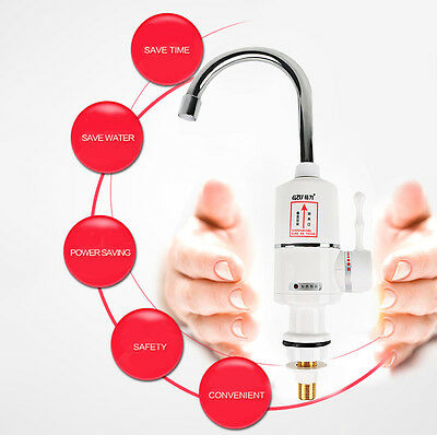 GZU ZM  Tankless Instant Electric Hot Water Heater Faucet  Heating Tap (EU PLUG)