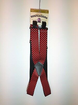 Mann3 Heavy Duty Red Checkered Motorcycle Braces
