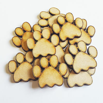 Wooden Dog Paws Animal Bear Cat Craft Blank Card  Decor Art MDF Gift